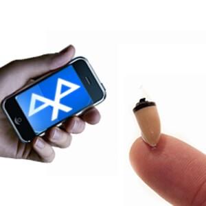 Micro oreillette sans fil pour téléphone bluetooth et Iphone