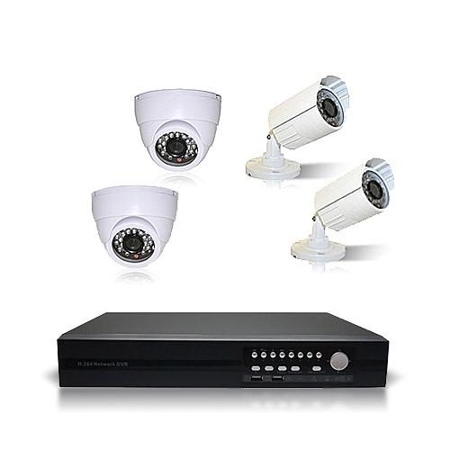 4 caméras intérieures / extérieures et un enregistreur DVR-924