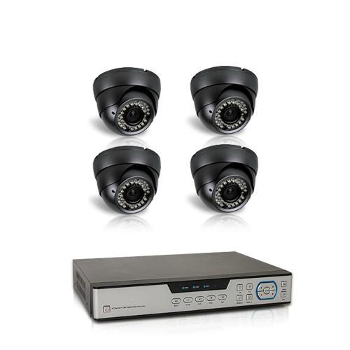 Kit vidéosurveillance 1 To avec 4 caméras AHD 1080P intérieures