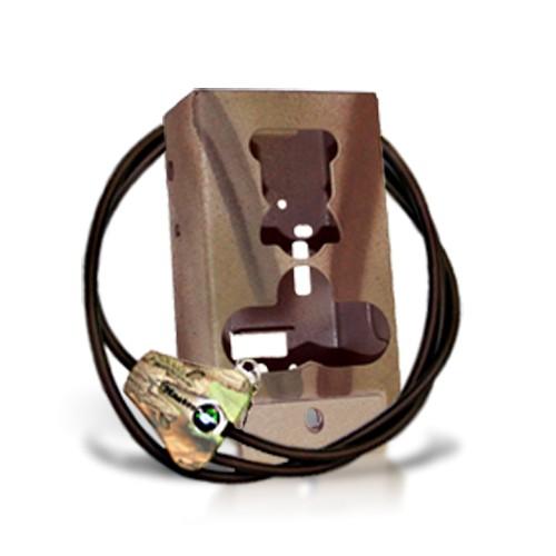 Caisson de protection camera en acier de type camouflage