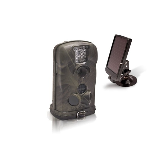 Caméra alerte HD 1080P IR avec batterie solaire