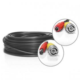 Câble vidéo BNC + alimentation de 50 mètres