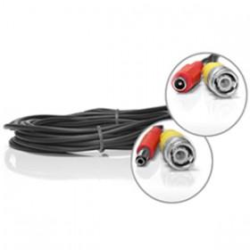 Câble vidéo BNC + alimentation de 5 mètres
