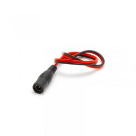 Connecteur DC femelle avec câble de 30 cm,  Ø extérieur 5.5 mm, intérieur 2.1mm