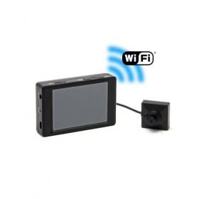 Kit micro caméra bouton ou vis Full HD 1080P avec micro enregistreur avec écran tactile et connexion Wi-Fi sur smartphone iOS & Android