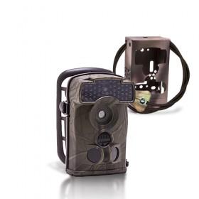 Caméra de chasse autonome HD 720P IR invisible avec box anti-vandale