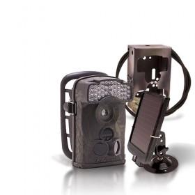 Caméra de chasse autonome HD 720P IR avec batterie solaire & box anti-vandale