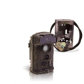 Caméra de chasse autonome HD 1080P IR invisible avec box anti-vandale