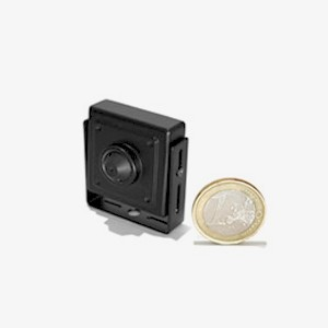 Micro camera filaire CCD ex-view 600 lignes noir et blanc objectif Pinhole