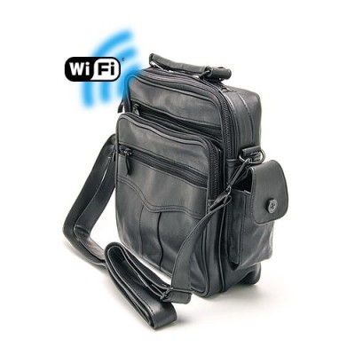 Sac bandoulière caméra cachée Wi-Fi FHD 1080P avec micro enregistreur