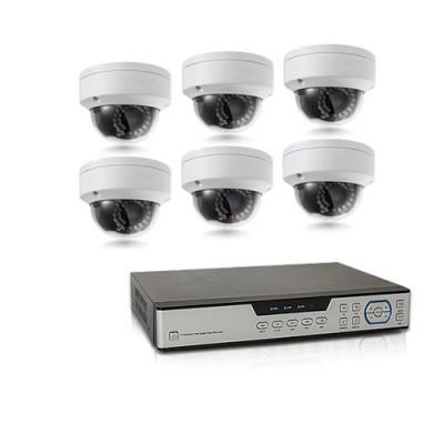 Kit de vidéosurveillance intérieur/extérieur avec enregistreur IP 1To et 6 caméras dôme HD 1080P WIFI
