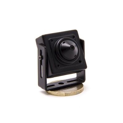 Micro caméra pinhole CCD 600 lignes 0,0003 lux audio video N&B