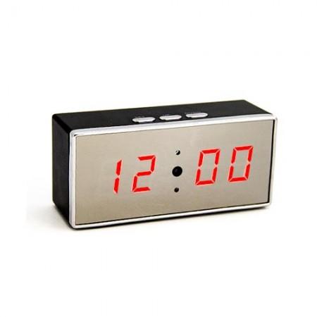 Caméra cachée horloge IP WIFI HD 1080P grand angle 140° avec vision nocturne et enregistrement sur carte micro SDHC 64 Go
