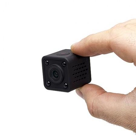 Micro caméra WiFi HD 1080P autonome avec infrarouge invisible mémoire microSD 16Go