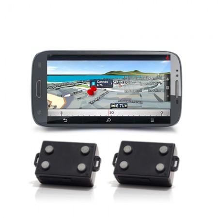 Kit de géolocalisation en temps réel écran tactile 5.3 et 2 balises GPS