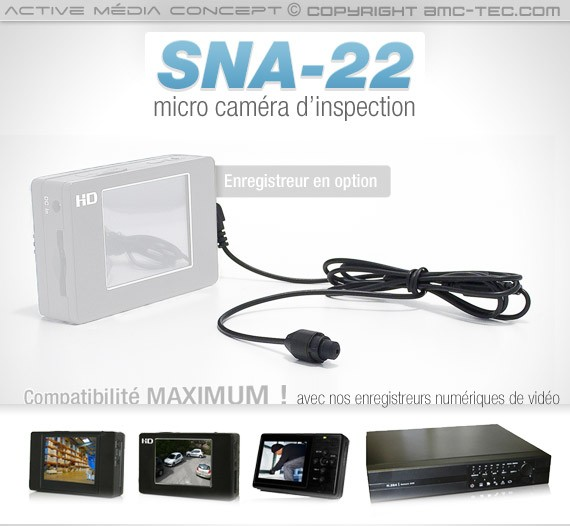Micro caméra  snake compatible avec DVR-500-HD.