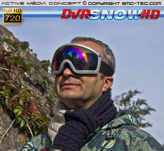 Masque de snowboard cam HD
