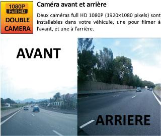 Double caméra HD 1080P