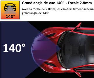 Grand angle de 140°