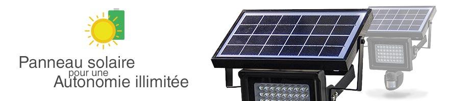 caméra panneau solaire
