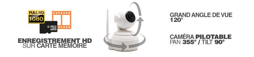 enregistrement HD camera GSM