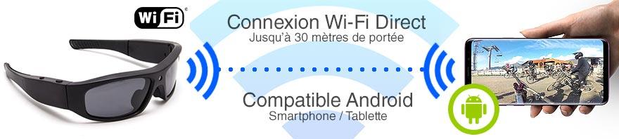 connexion lunette en wifi