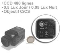 Mini Camera CCD couleur 480 lignes jour-nuit objectif C-CS