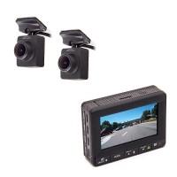 Enregistreur de conduite double caméra filaire HD 1080P avec écran LCD et antenne GPS