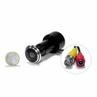 Micro caméra judas fish-eye CCD N/B 600 Lignes 0,0003 lux