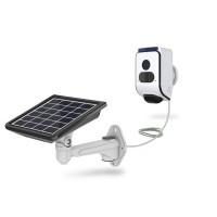 Caméra solaire WiFi HD 720P avec alarme flash et sirène en cas de détection de mouvement mémoire 32Go