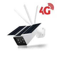 Caméra solaire IP 4G extérieure HD 1080P détecteur de mouvement PIR vision nocturne et Notifications Push