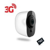 Smart caméra alarme 3G Wi-Fi HD 1080P, 64Go, grand angle avec batterie rechargeable 6 mois, détection de mouvement et audio bidirectionnel, Intérieure / extérieur
