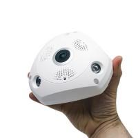 Caméra IP Wifi 360° 3MP vision nocturne et enregistrement sur carte microSDHC