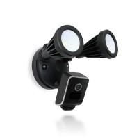 Double projecteur LED 24W avec caméra extérieure IP WiFi HD 1080P avec détection de mouvement PIR