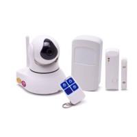 Système caméra pilotable et alarme IP WiFi HD 1080P avec capteur de présence et ouverture de porte