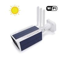Caméra solaire IP WiFi extérieure HD 1080P détecteur de mouvement PIR vision nocturne et Notifications Push 64 Go inclus