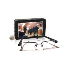 Kit micro enregistreur portable HD 1080p 500 Go avec lunettes caméra cachée