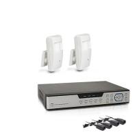 Kit vidéosurveillance avec enregistreur IP 1 TO et 2 caméras cachées AHD 1080P détecteur de présence