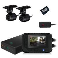 Kit vidéosurveillance anti vandalisme véhicule auto moto avec 2 caméra HD longue autonomie mémoire 128 Go