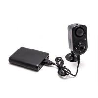 Kit mini caméra HD 1080P avec batterie 13A jusqu'à 2 ans d'autonomie, grand-angle 120°, vision nocturne invisible, détection de mouvement PIR, mémoire 64 Go