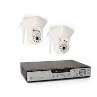 Enregistreur hybride AHD 4 voies 1To avec 2 caméras HD IP/WiFi intérieures