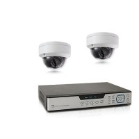 Kit de vidéosurveillance intérieur extérieur avec enregistreur IP 1To et 2 caméras WIFI dôme UHD 5 Mpx