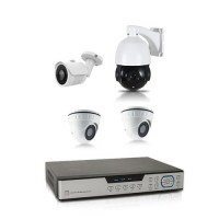 Kit vidéo surveillance 1 To avec 4 caméras AHD 1080P dont 1 caméra PTZ