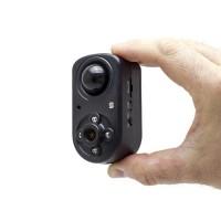Mini caméra HD 1080P, grand-angle 120°, vision nocturne invisible, détection de mouvement PIR,  longue autonomie avec 64 Go