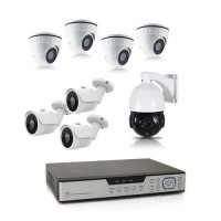 Kit vidéo surveillance 1 To avec 8 caméras AHD 1080P dont 1 caméra PTZ