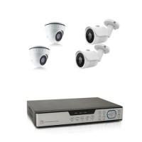 Kit videosurveillance 4 cameras AHD 1080P avec enregistreur 4 voies HDD 1 To inclus