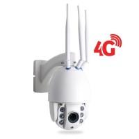 Caméra PTZ intelligente HD 1080P IP WiFi GSM 4G détection humaine autotracking IR Zoom X4 pilotable à distance via iPhone Android et PC
