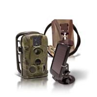 Kit complet caméra 12M autonome waterproof IR invisible solaire et anti-vandal (BOX OFFERTE)