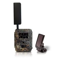 Caméra solaire de chasse autonome 4G HD 8MP avec IR invisible cryptage 256 bits et panneau solaire