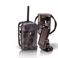 Dernière génération - Caméra de chasse alerte HD 720P envoi MMS e-mail IR invisible avec batterie solaire & box anti-vandale